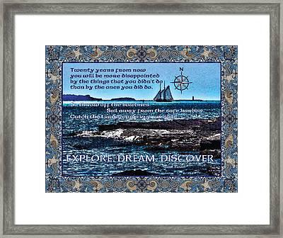 Celtic Explorer - Bluenose II In Halifax Harbour Framed Print