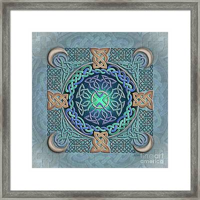 Framed Print featuring the mixed media Celtic Eye Of The World by Kristen Fox