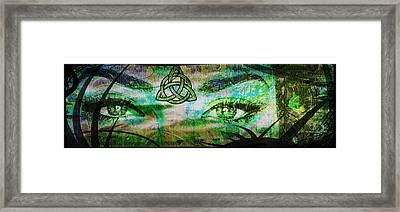 Celtic Eyes Framed Print
