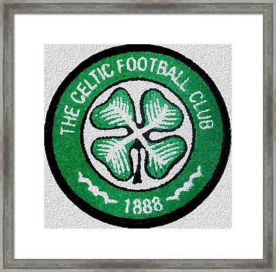 Celtic Fc Crest Painting  Framed Print by Enki Art