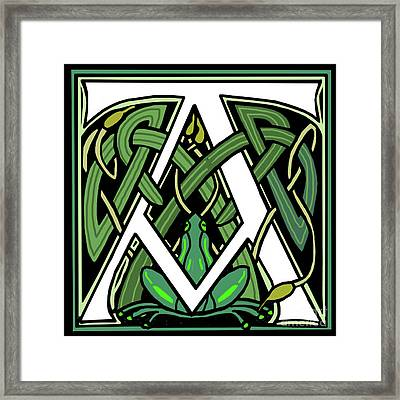 Celtic Frog Letter A Framed Print