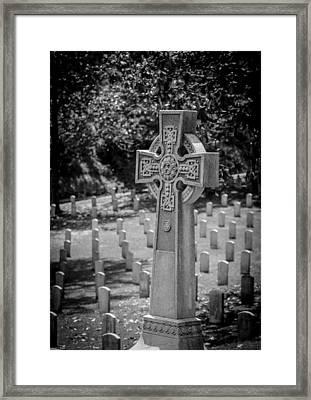 Celtic Grave Framed Print
