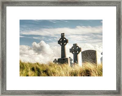 Celtic Grave Markers Framed Print by Natasha Bishop