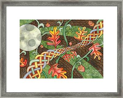 Celtic Harvest Moon Framed Print