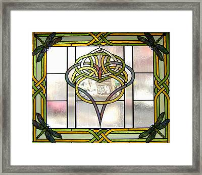 Celtic Heart Framed Print by Jane Croteau