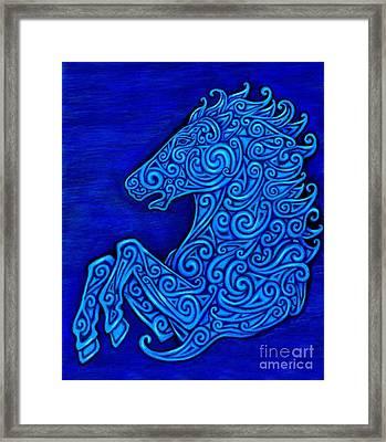 Celtic Horse Framed Print by Rebecca Wang