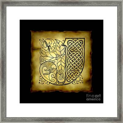 Celtic Letter J Monogram Framed Print