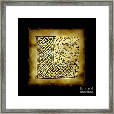 Celtic Letter L Monogram Framed Print