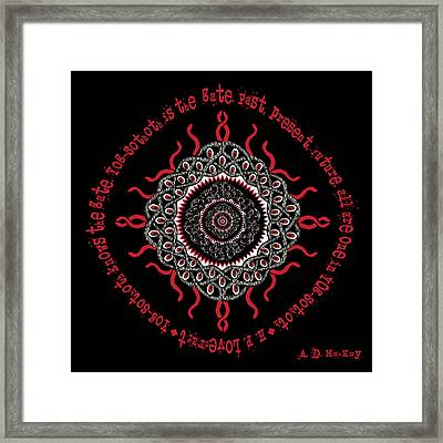 Celtic Lovecraftian Cosmic Monster Deity Framed Print
