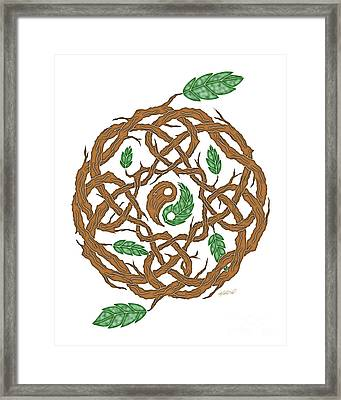 Celtic Nature Yin Yang Framed Print