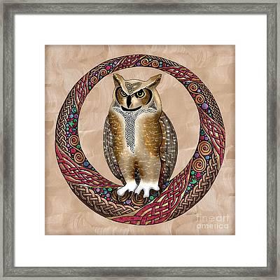 Celtic Owl Framed Print by Kristen Fox