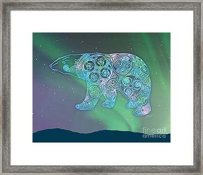 Celtic Polar Bear Framed Print