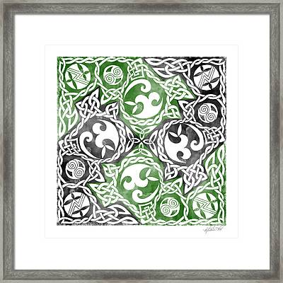Framed Print featuring the photograph Celtic Puzzle Square by Kristen Fox