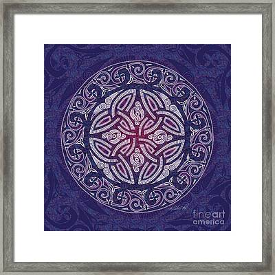 Framed Print featuring the mixed media Celtic Shield by Kristen Fox