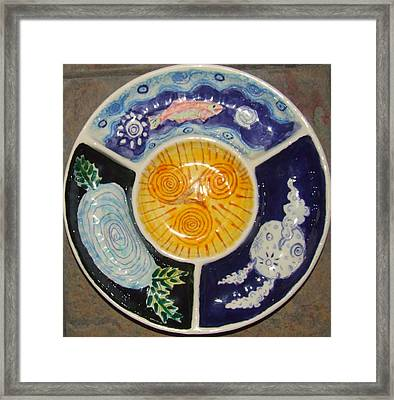 Celtic Spiral Chip And Dip Framed Print by Angela Annas