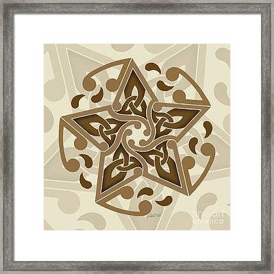 Framed Print featuring the mixed media Celtic Star by Kristen Fox