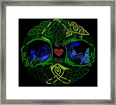 Celtic Tree Of Life 2 Framed Print by Christina Heyworth