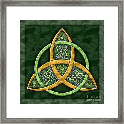 Celtic Trinity Knot Framed Print
