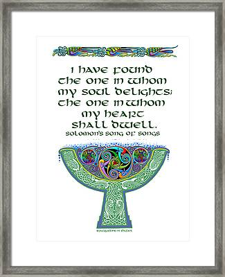 Celtic Wedding Goblet Framed Print