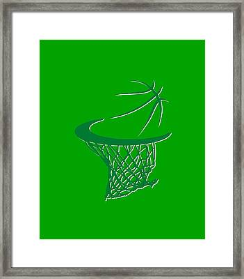 Celtics Basketball Hoop Framed Print by Joe Hamilton