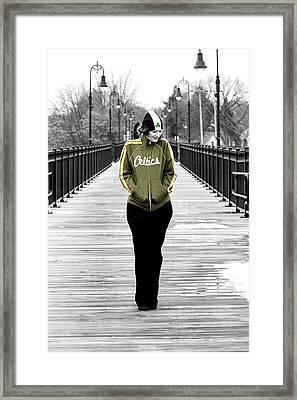 Celtics Girl Framed Print