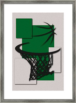 Celtics Hoop Framed Print by Joe Hamilton