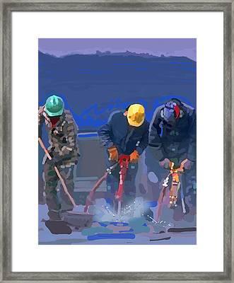 Cement Breakers Framed Print