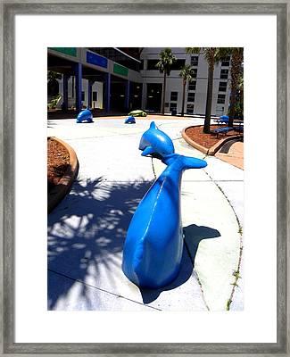 Cement Cetaceans Framed Print by Chris Mercer