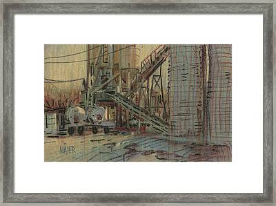Cement Company Framed Print by Donald Maier