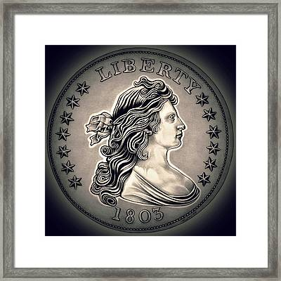 Cement Draped Liberty Framed Print by Fred Larucci