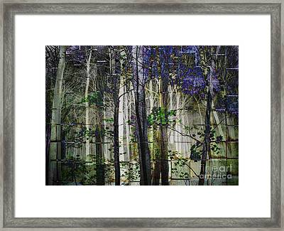Cement Forest 2 Framed Print by Elizabeth McTaggart