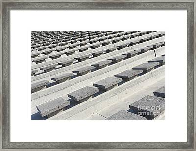 Cement Seats Framed Print by Gaspar Avila