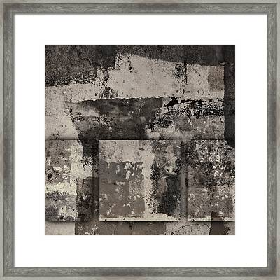 Cement Squares Number Two Framed Print by Carol Leigh