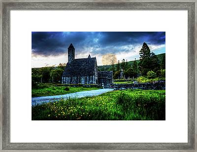 Cemetary Church At Glendalough Framed Print