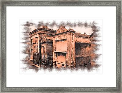 Cemetary Row Framed Print by Linda Kish