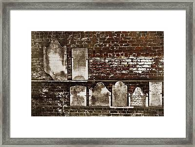 Cemetary Wall Framed Print by JAMART Photography