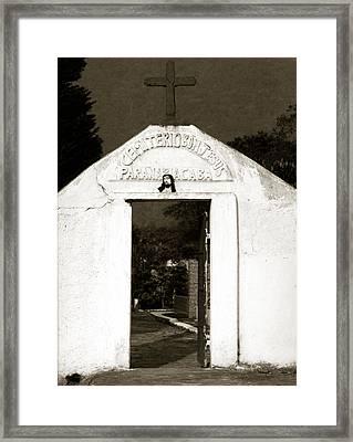 Cemetery Framed Print by Amarildo Correa