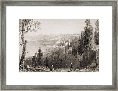 Cemetery And Mosque Of Ayub, Eyyub Framed Print