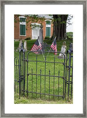 Cemetery Flags Framed Print