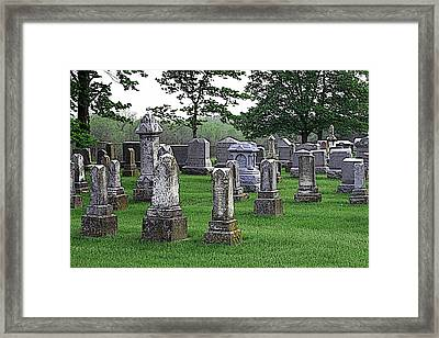Cemetery Grunge Framed Print by Carl Perry
