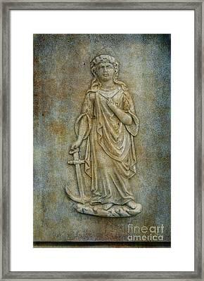 Cemetery Marker Art Statue Framed Print by Randy Steele