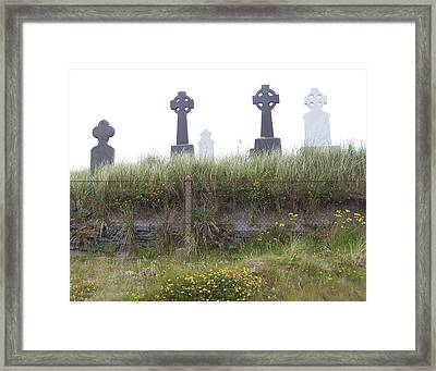 Cemetery On Inisheer Aran Islands Ireland Framed Print by Linda Hardin