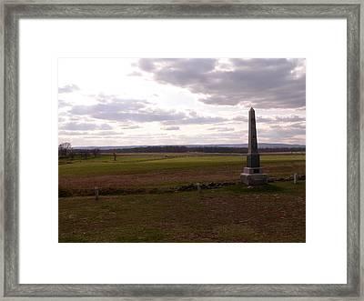Cemetery Ridge Looking At Seminary Ridge Framed Print by David Bearden
