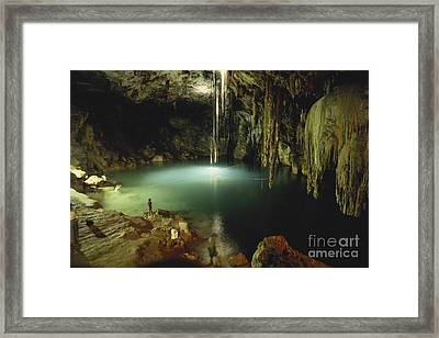 Cenote Of Dzitnup Framed Print