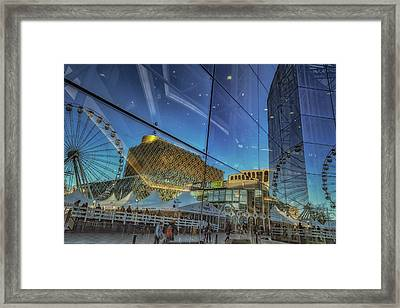 Centenary Square Reflections Framed Print by Chris Fletcher