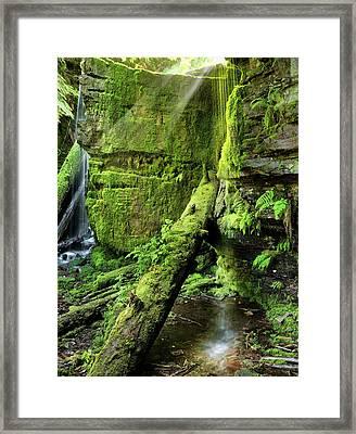 Centennial Falls Mist Framed Print