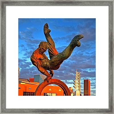 Centennial Park Statue 001 Framed Print by George Bostian