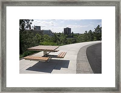 Centennial Trail At Kendall Yards - Spokane Framed Print