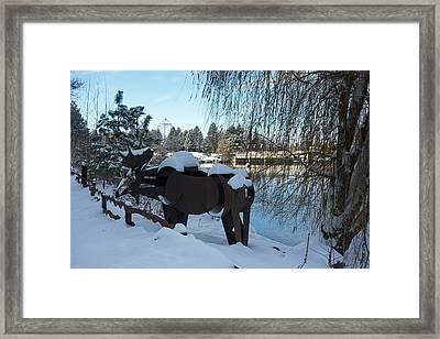 Centennial Trail Moose Framed Print