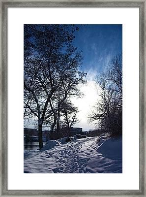 Centennial Trail Winter Framed Print